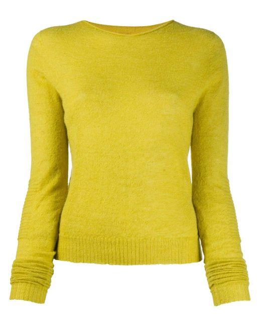 Rick Owens ラウンドネック セーター Yellow