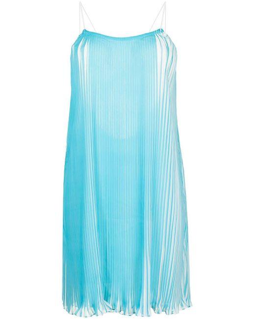 Плиссированное Платье Мини Stella Bambah, цвет: Blue