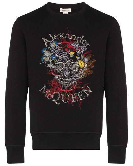 メンズ Alexander McQueen ロゴ スウェットシャツ Black