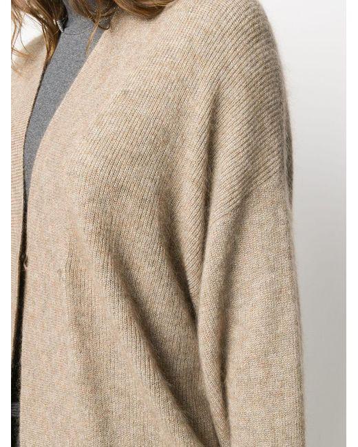 Кардиган Оверсаз С Эффектом Металлик Brunello Cucinelli, цвет: Multicolor