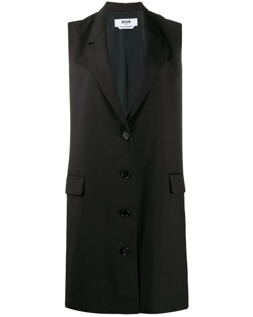 MSGM ノースリーブ ドレス Black