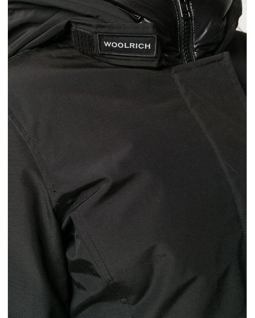 Woolrich フーデッド パデッドコート Black