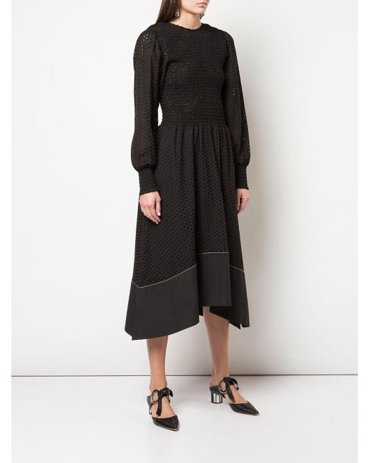 PROENZA SCHOULER WHITE LABEL アイレットレース ドレス Black