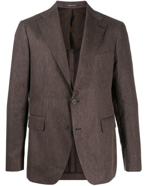 メンズ Tagliatore テーラードジャケット Gray