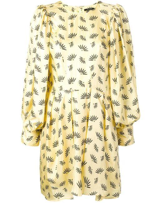 Isabel Marant Robe courte imprimée femme de coloris jaune lGtQs