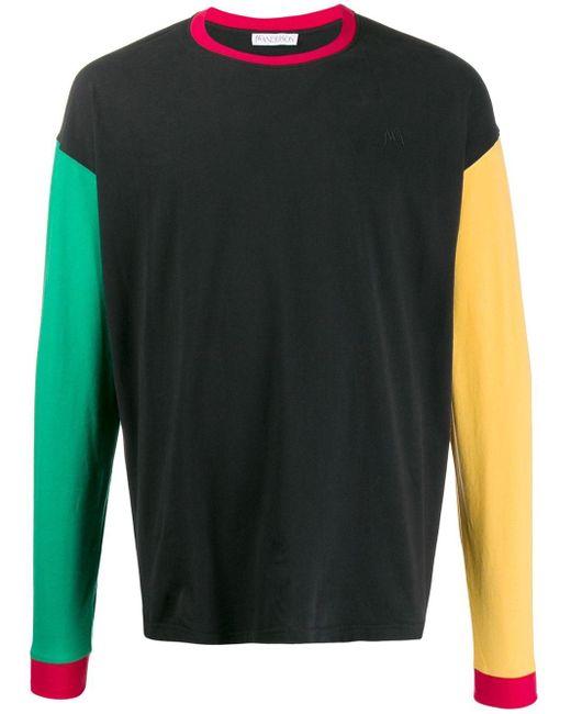 メンズ J.W. Anderson カラーブロック Tシャツ Black
