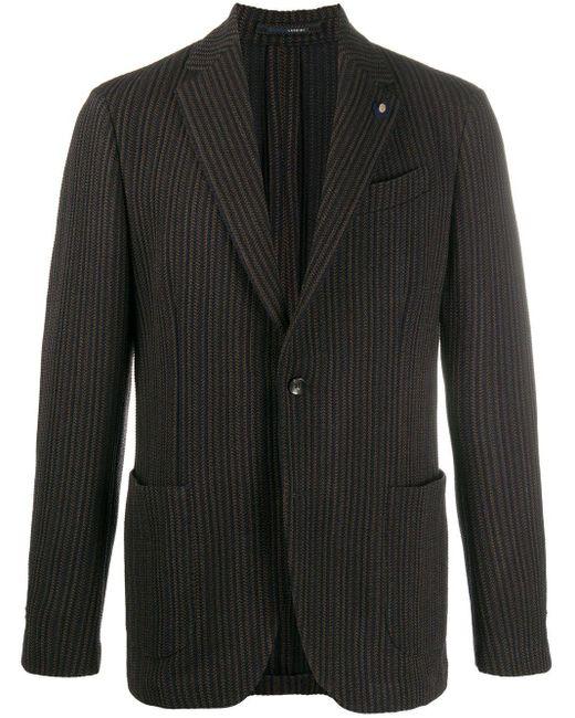 Пиджак В Полоску Lardini для него, цвет: Blue
