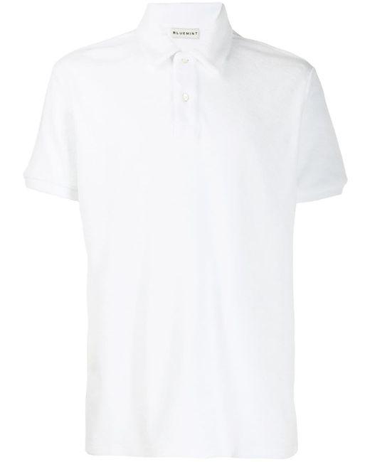 メンズ BLUEMINT リラックスフィット ポロシャツ White