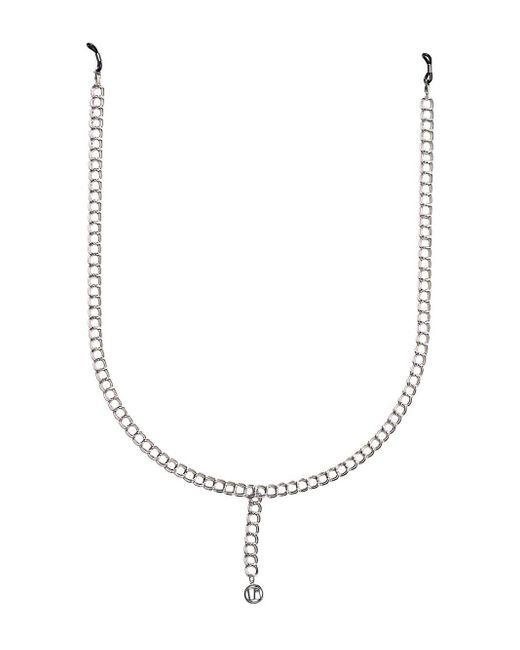 Linda Farrow Lflchain3c3 White Gold Large Chain Metallic