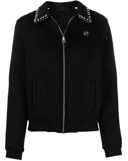 Philipp Plein ロゴ ボンバージャケット Black