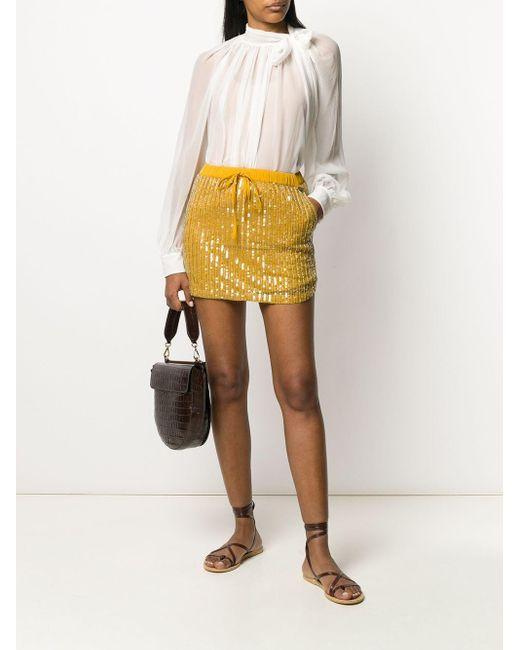 Twin Set スパンコール ミニスカート Yellow