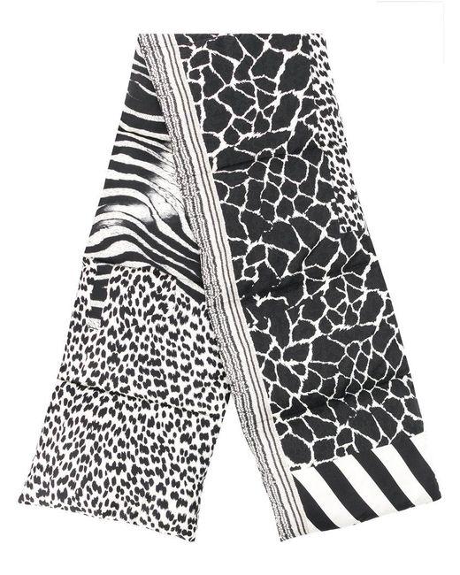 Pierre Louis Mascia - Black Zebra Padded Scarf - Lyst