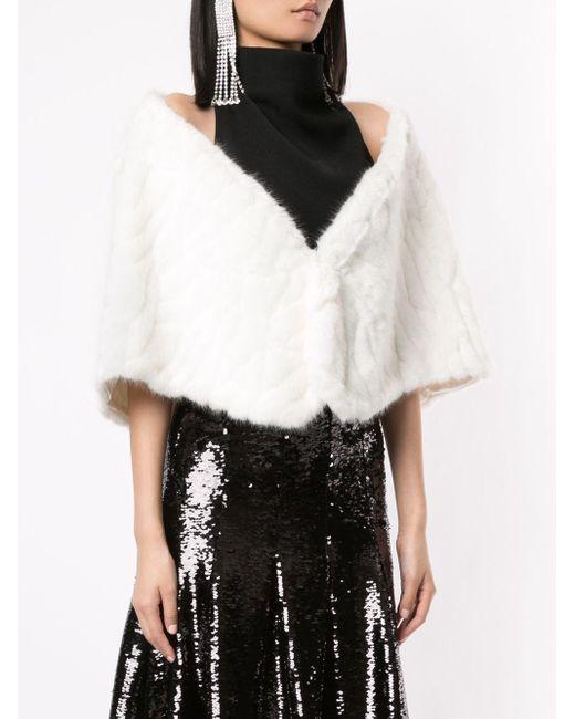 Unreal Fur エコファーショール White