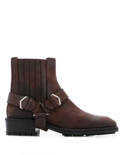 Jimmy Choo Brown Lokk Boots for men