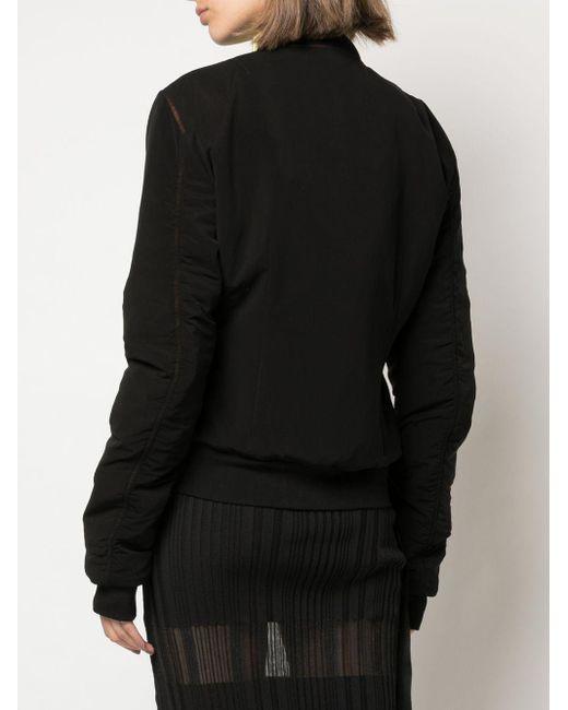 Unravel Project ジップアップ ボンバージャケット Black