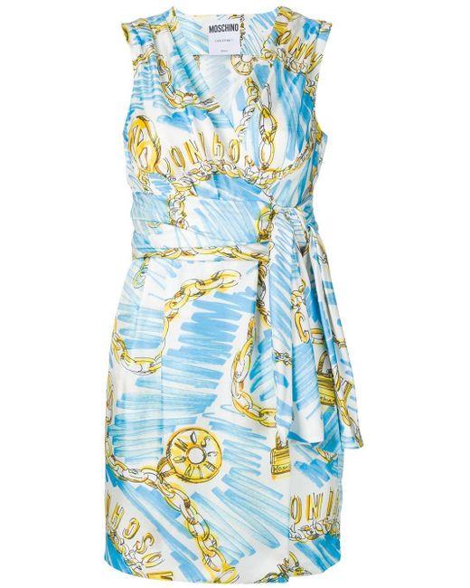 Moschino ロゴ ドレス Blue