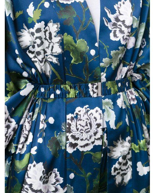 Adam Lippes フローラル柄 キモノスタイルジャケット Blue