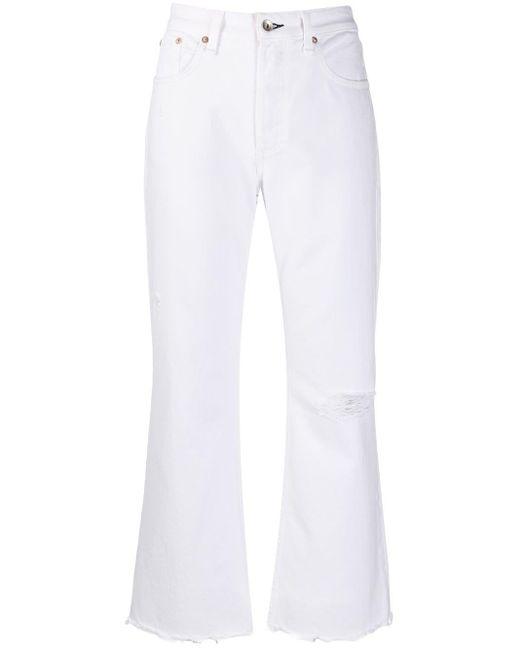 Rag & Bone White Straight-leg Jeans