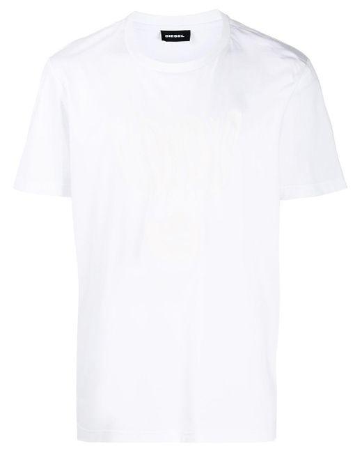 メンズ DIESEL T-just J-10 Tシャツ White