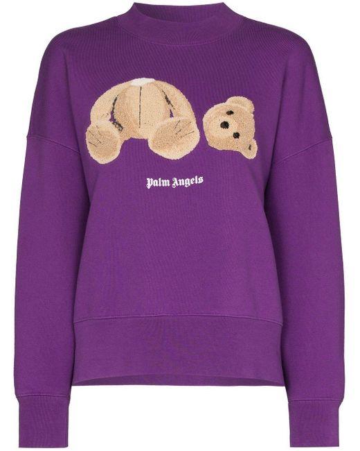 Palm Angels パープル Kill The Bear フーディ Purple