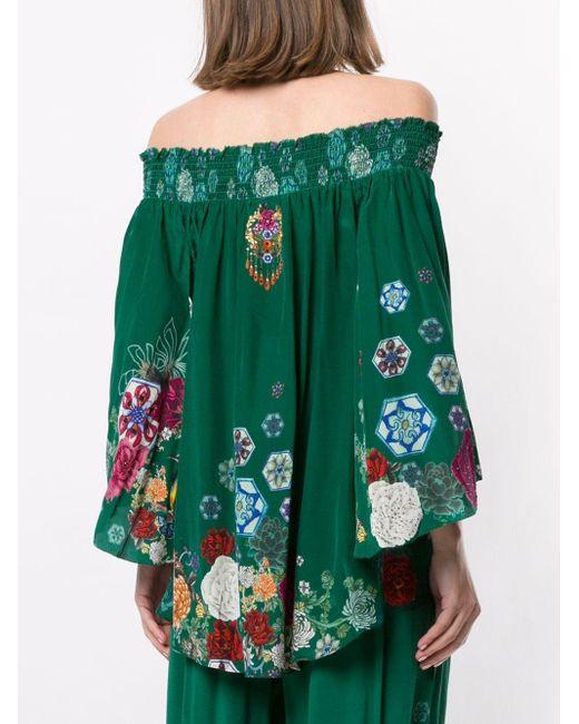 Camilla Emeralds Orbit ブラウス Green