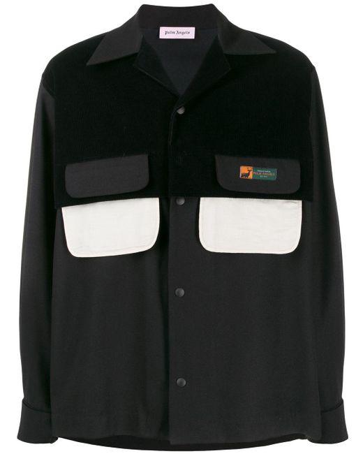 メンズ Palm Angels ダブルポケット オーバーシャツ Black