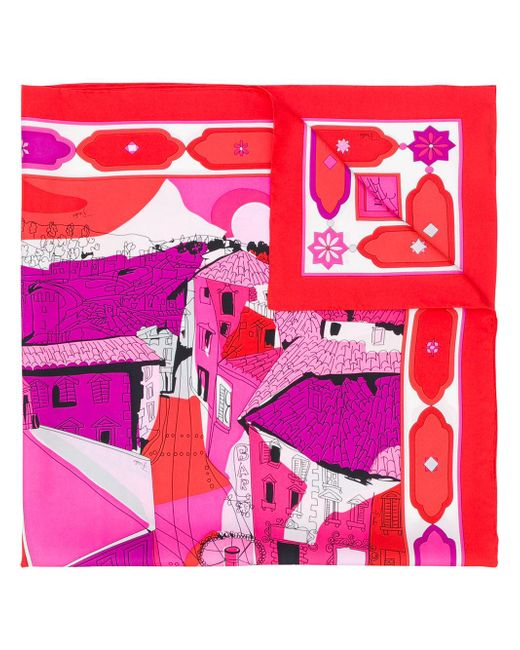 Платок С Принтом 'florence' Emilio Pucci, цвет: Red