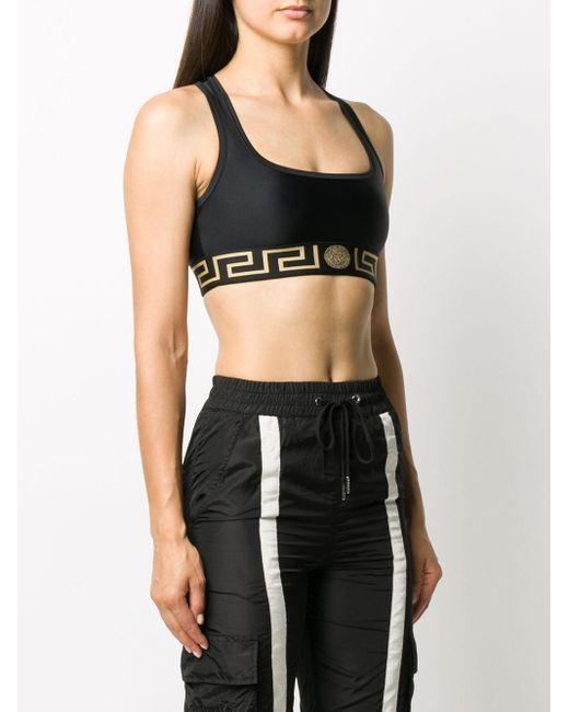 Versace グレカ スポーツブラ Black