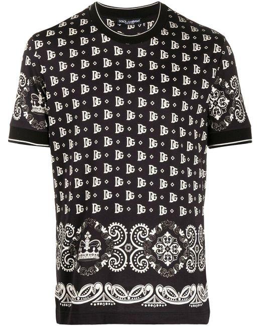 メンズ Dolce & Gabbana プリント Tシャツ Black