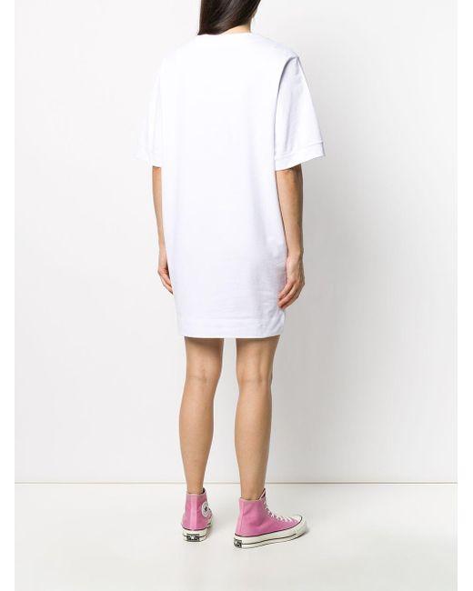 Love Moschino ハート Tシャツワンピース White