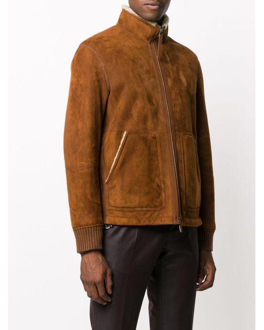 Куртка С Подкладкой Из Овчины Ermenegildo Zegna для него, цвет: Brown
