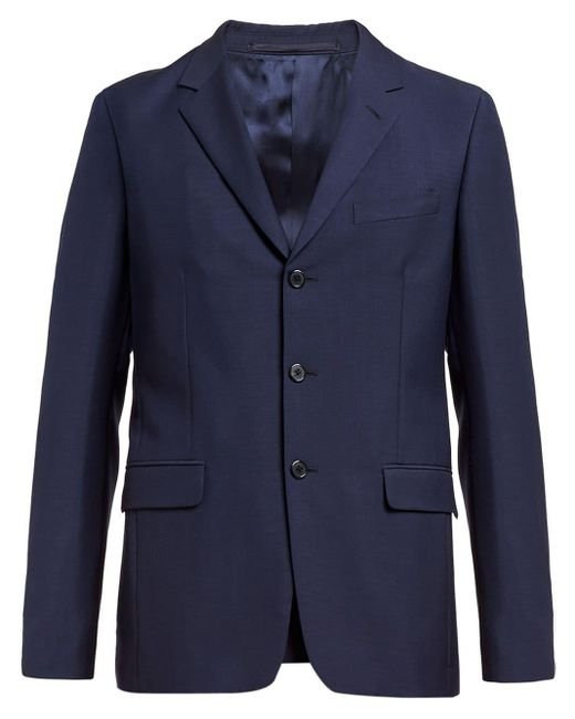 メンズ Prada シングルスーツ Blue