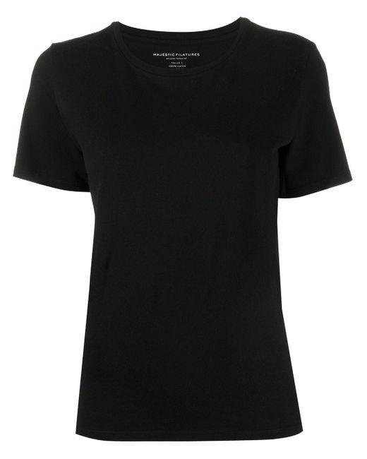 Majestic Filatures ラウンドネック Tシャツ Black