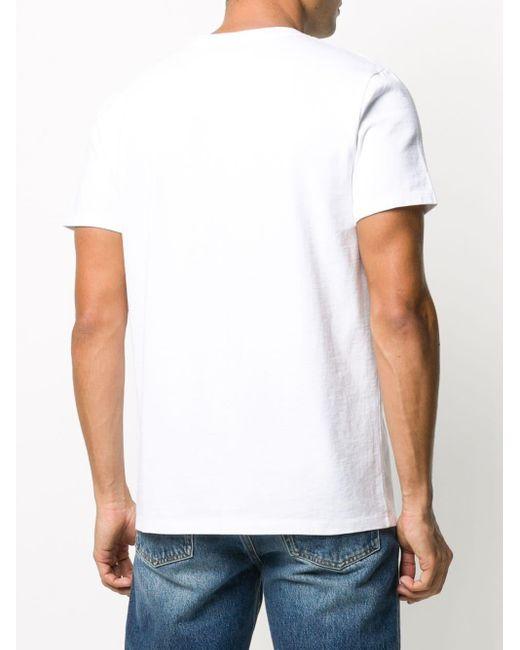 メンズ A.P.C. ロゴ Tシャツ White