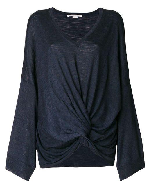 Stella McCartney ツイスト シルク セーター Blue
