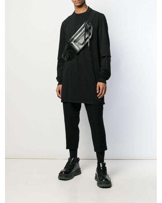 メンズ Rick Owens Drkshdw Hustler レイヤードスリーブ Tシャツ Black
