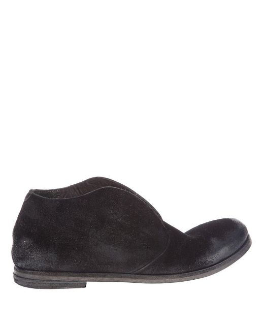 Marsèll Black Distressed Ankle Boots