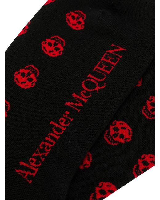 メンズ Alexander McQueen スカル靴下 Black