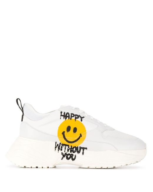 Philosophy Di Lorenzo Serafini White X Smiley Printed Sneakers