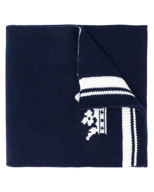 Écharpe à logo Dolce & Gabbana pour homme en coloris Blue