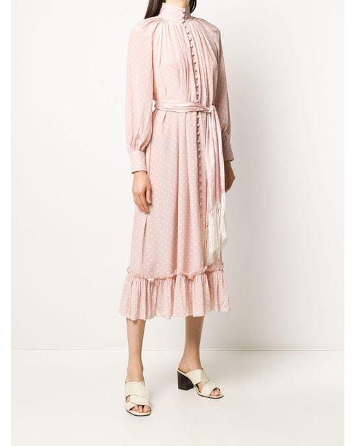 Zimmermann ポルカドット ドレス Pink