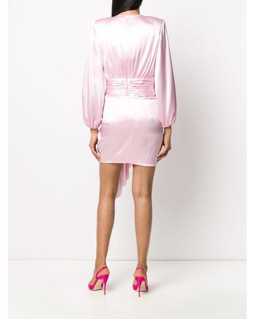 Alexandre Vauthier サテン ギャザードレス Pink