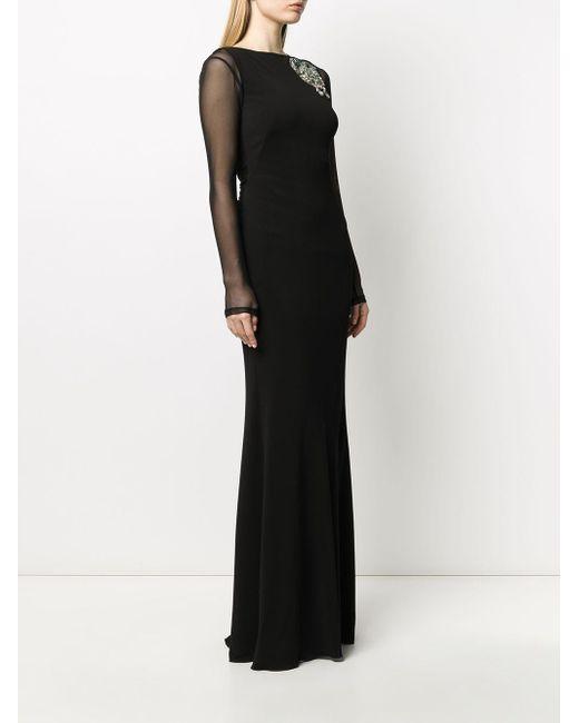 Alexander McQueen クリスタル イブニングドレス Black
