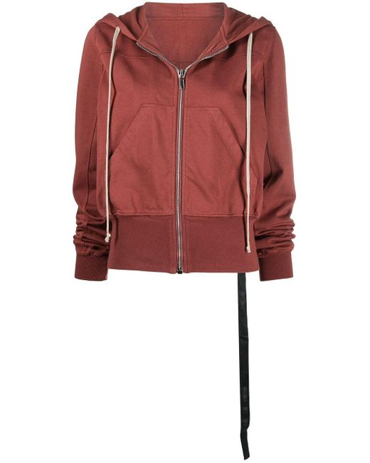 Rick Owens Drkshdw ジップアップ パーカー Red