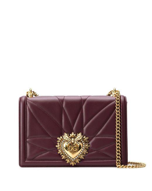 Dolce & Gabbana Devotion ショルダーバッグ M Red