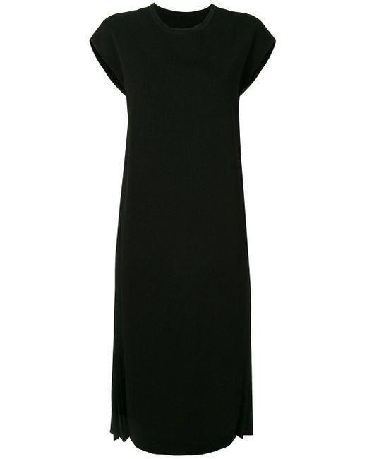 Juun.J サイドプリーツ ドレス Black
