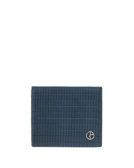 メンズ Giorgio Armani 二つ折り財布 Blue