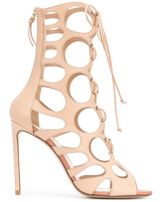 Francesco Russo - Natural Laser-cut Boot Sandals - Lyst