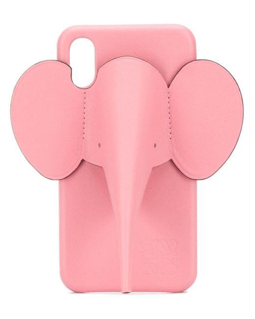 Loewe エレファント レザー Iphone X/xs ケース Pink