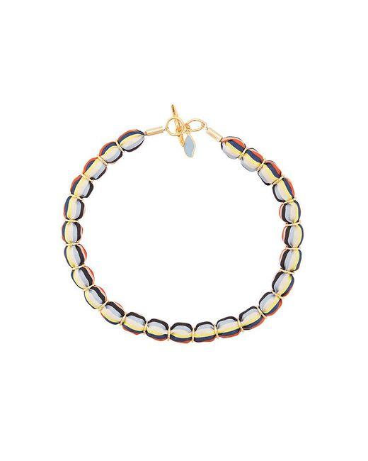 Diane von Furstenberg - Multicolor Striped Beaded Necklace - Lyst